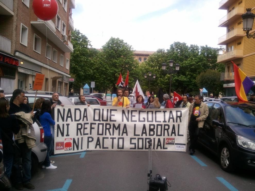 Ambiente reivindicativo en Huesca