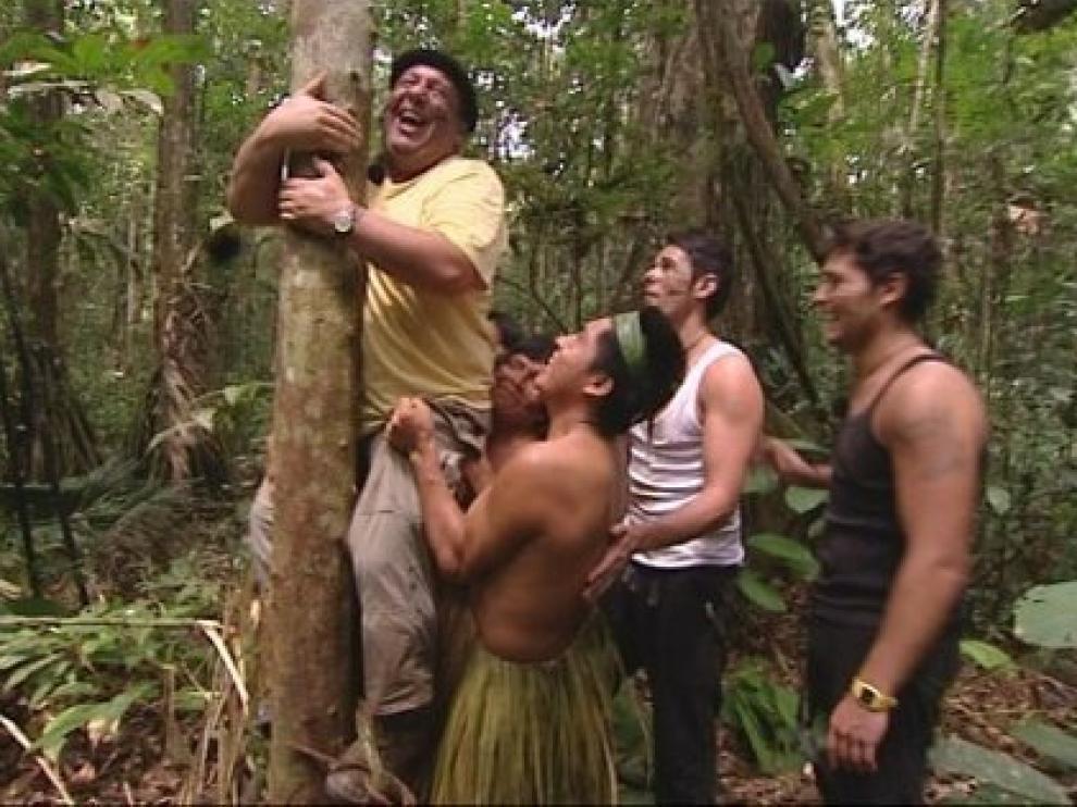 Los miembros de la familia Merino en el programa 'Perdidos en la tribu'.