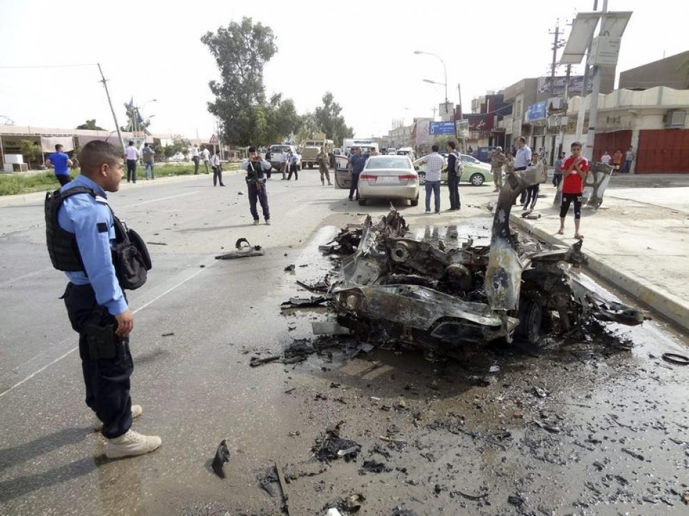 Explosión del coche bomba
