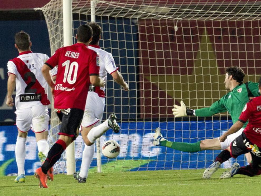 El Chori Castro marcó el gol de la victoria bermellona