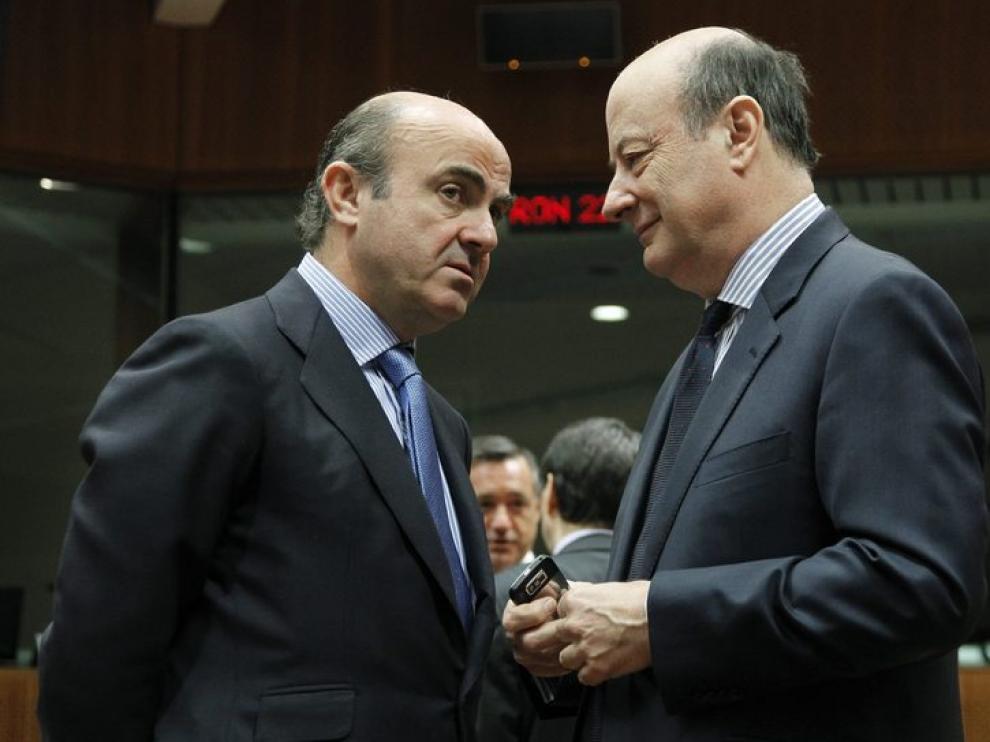 De Guindos en la reunión del Ecofin