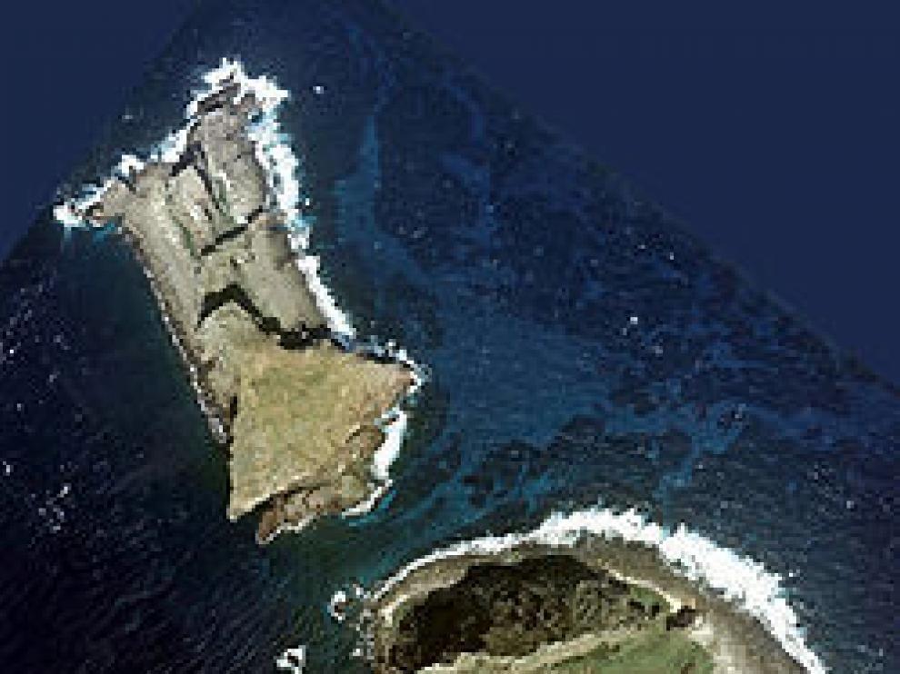Imagen de satélite de las islas en disputa