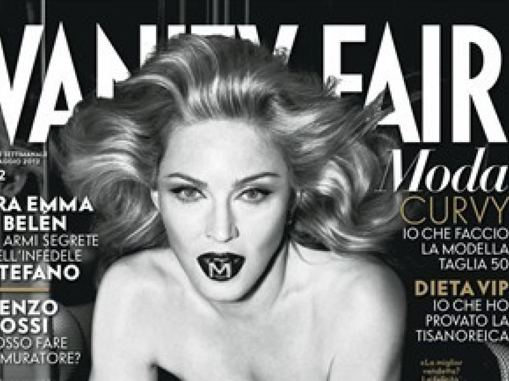 Madonna en la portada de la publicación italianala