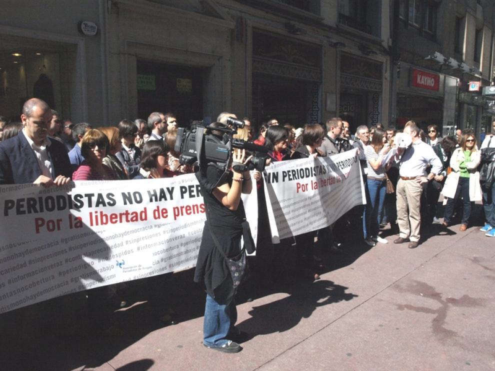 Concentración de periodistas en Zaragoza
