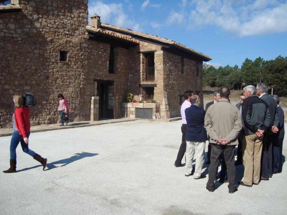 El consjero de Política Territorial, en Teruel