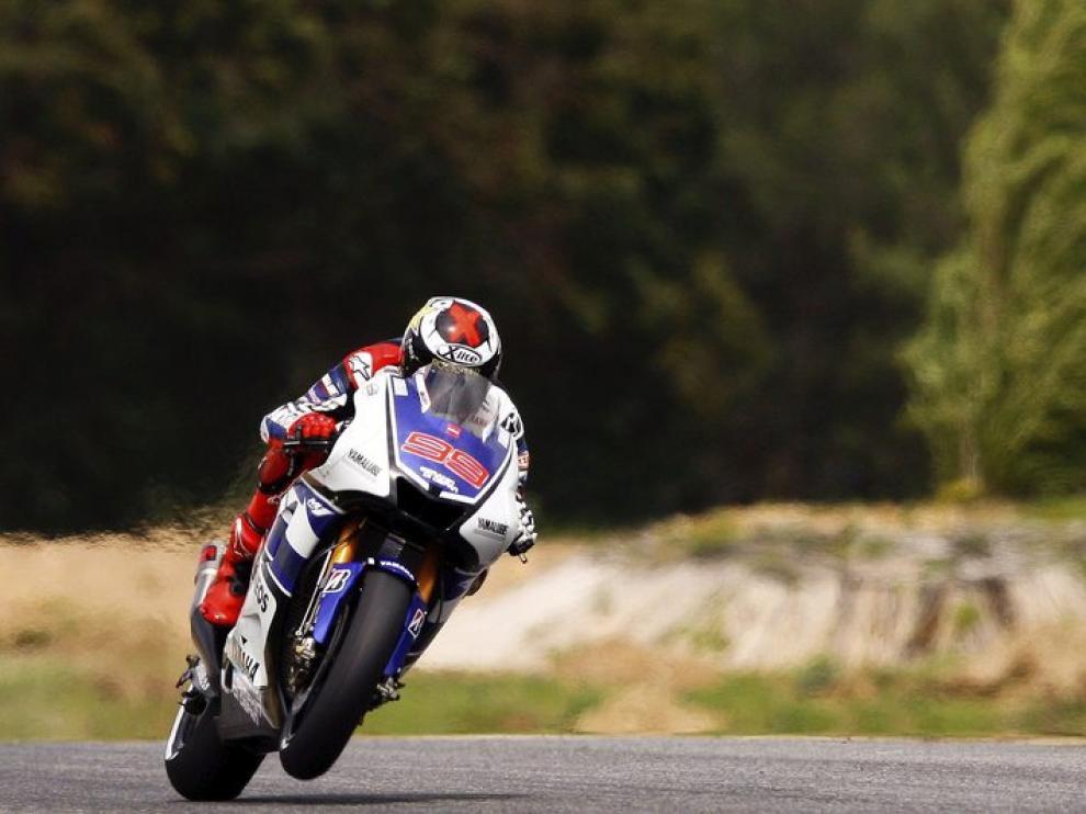 Lorenzo no pudo ser el más rápido en el circuito de Estoril