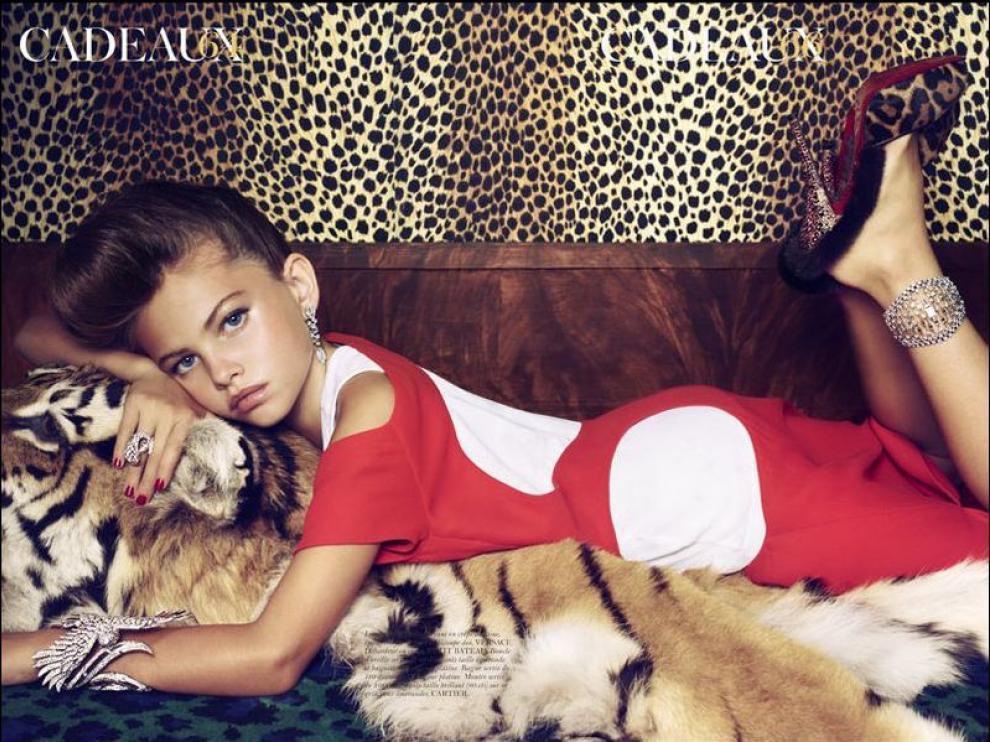 Una de las fotos del polémico reportaje de Vogue en su número 913 (enero 2011)