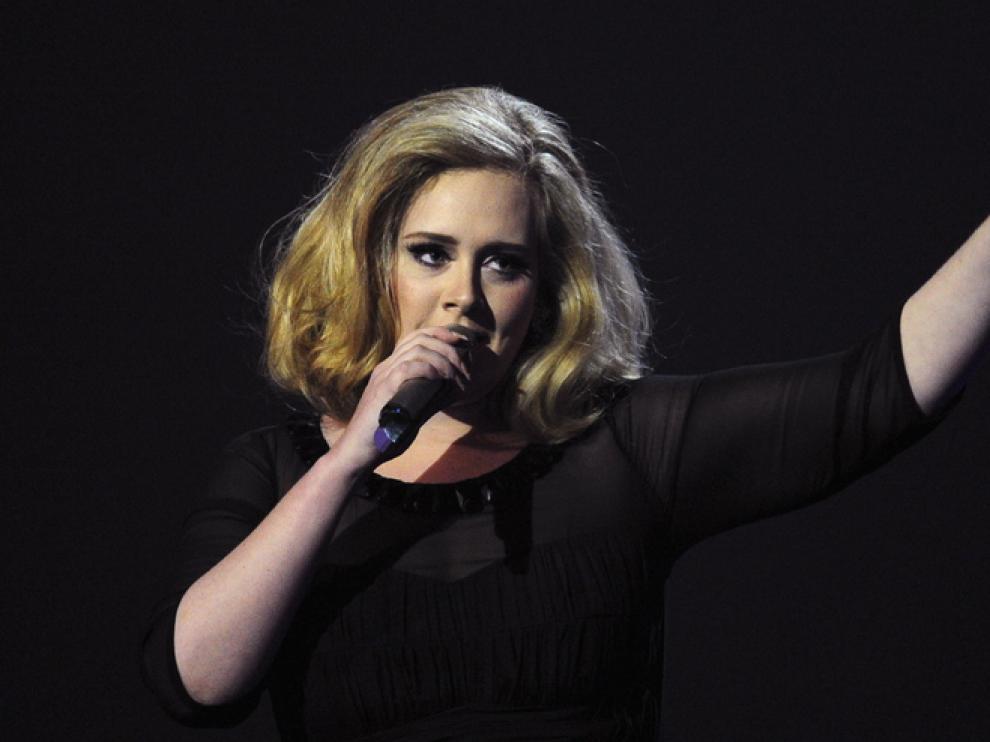 Adele, durante un concierto.