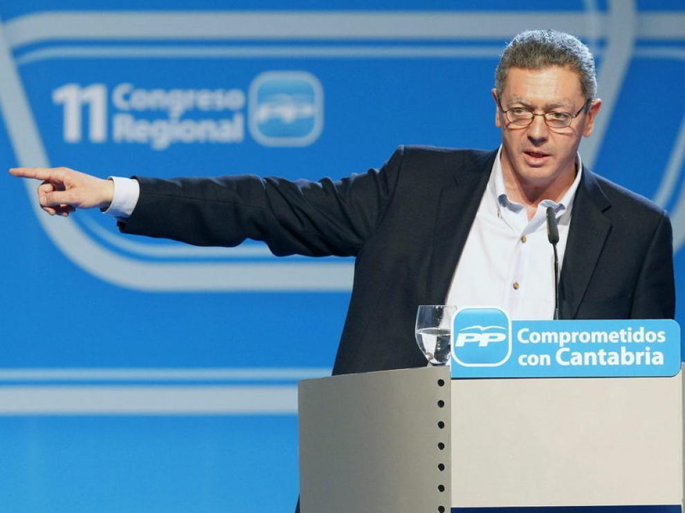 Gallardón, durante el congreso del PP en Cantabria