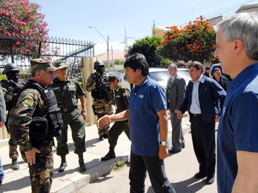 El presidente y el vicepresidente de Bolivia