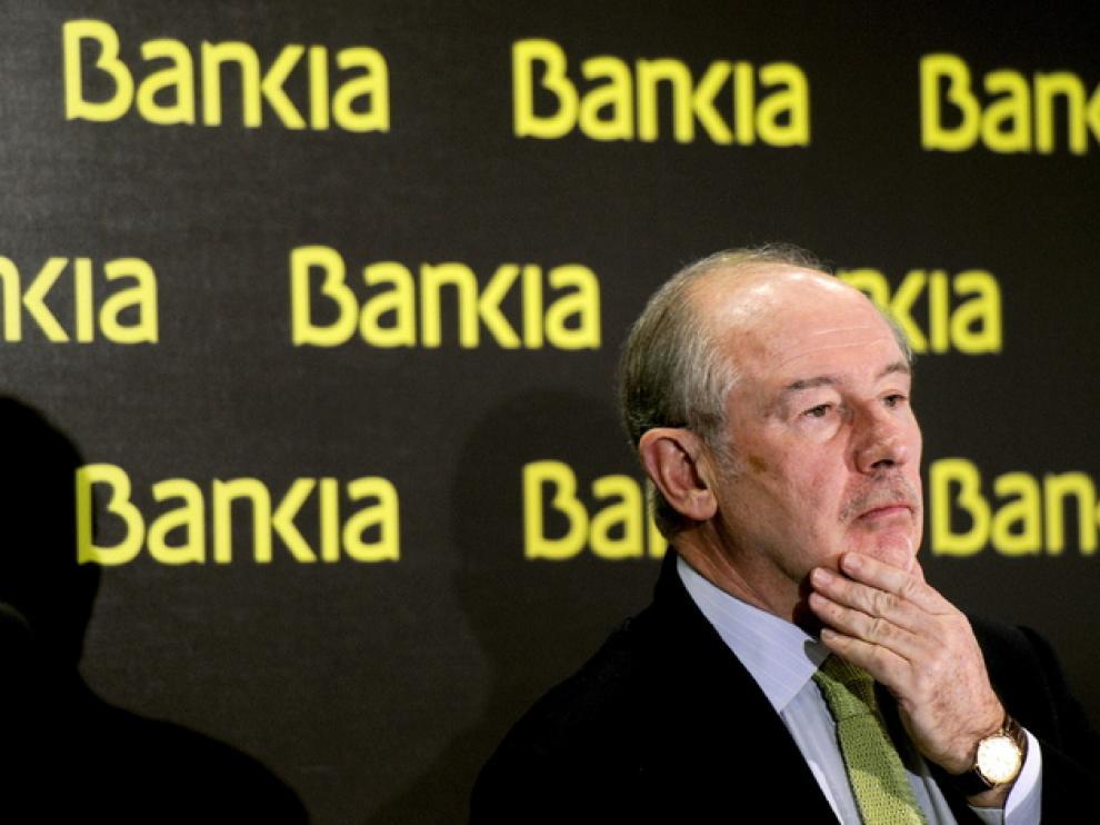 Rodrigo Rato durante una rueda de prensa.