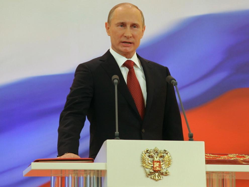 Putin en el acto de investidura
