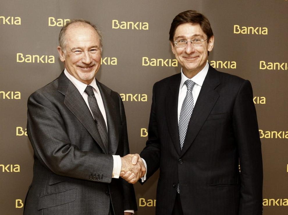 Traspaso de poderes en Bankia entre Rato y Goirigolzarri