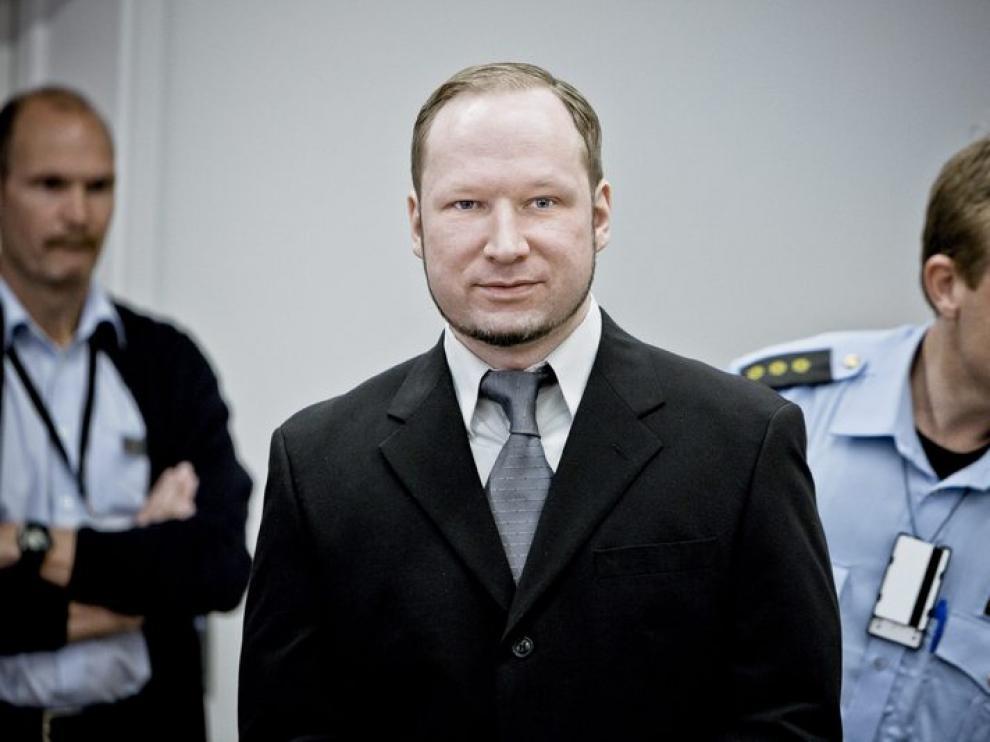 Breivik durante una declaración en el juicio