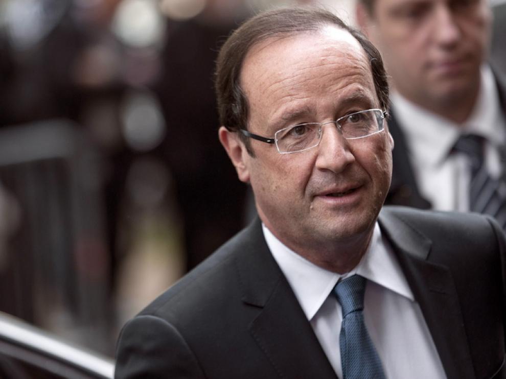Hollande durante los actos del martes