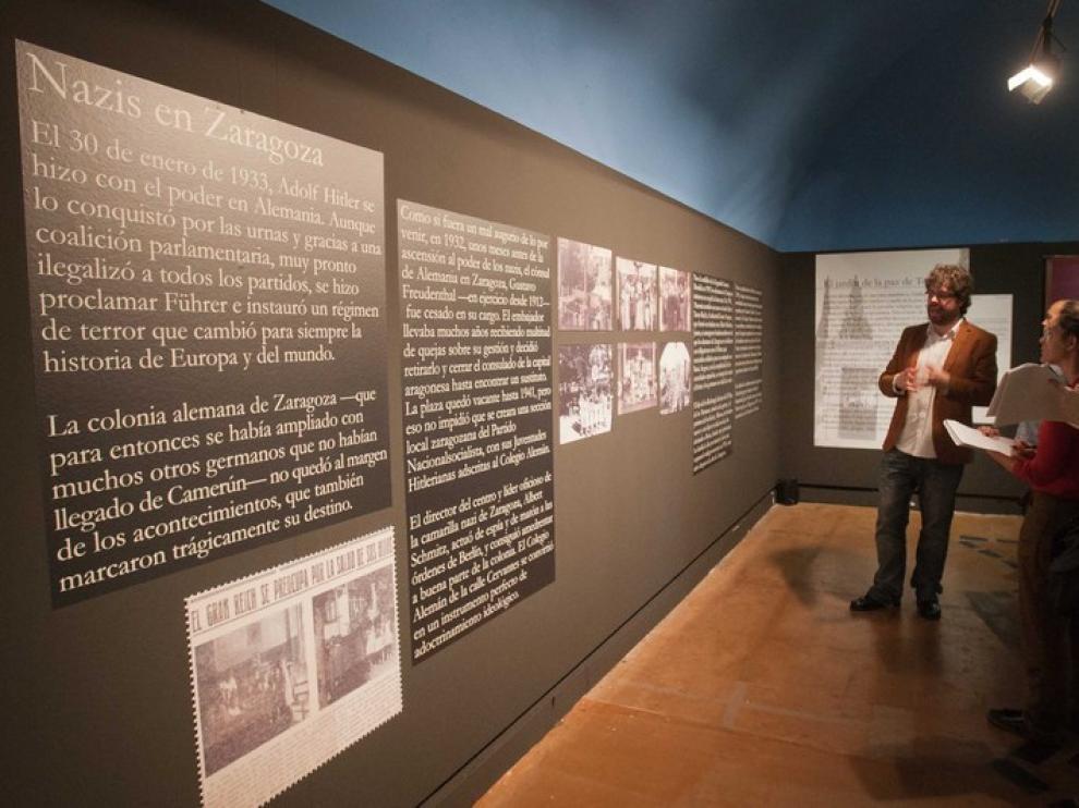 La exposición relata la vida de los alemanes en Zaragoza