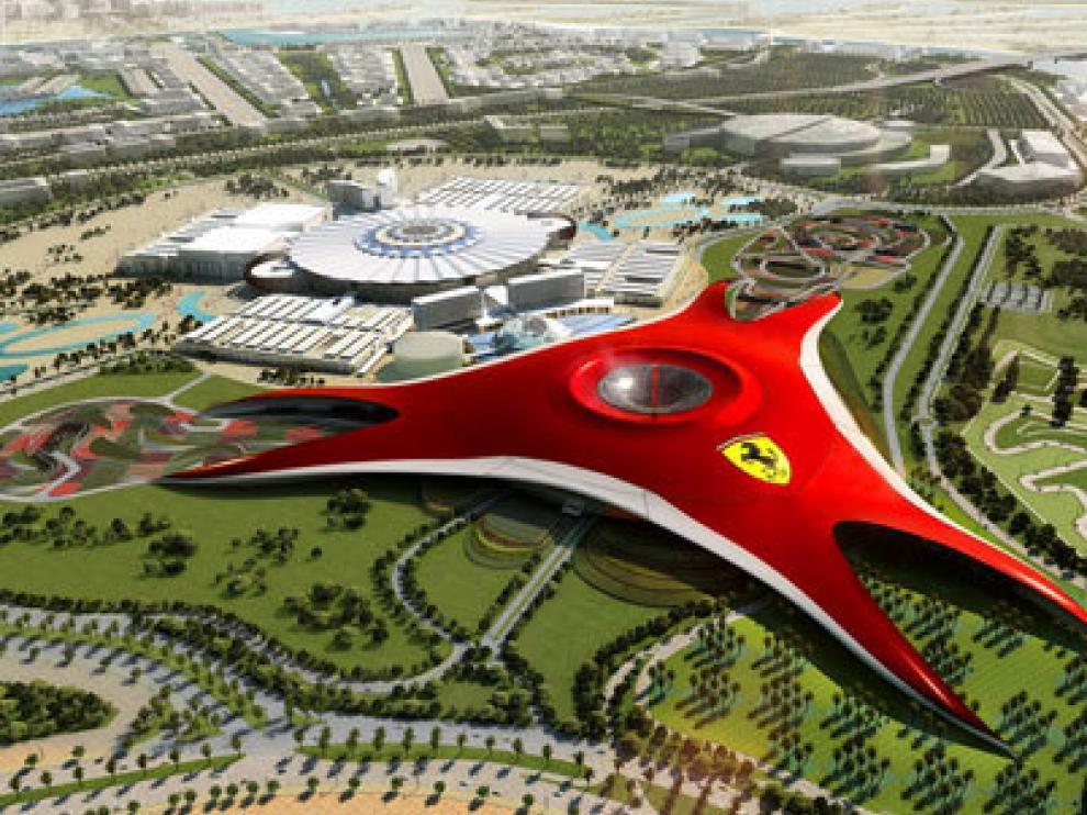 El parque de Ferrari sería igual que el que hay en Abu Dabhi