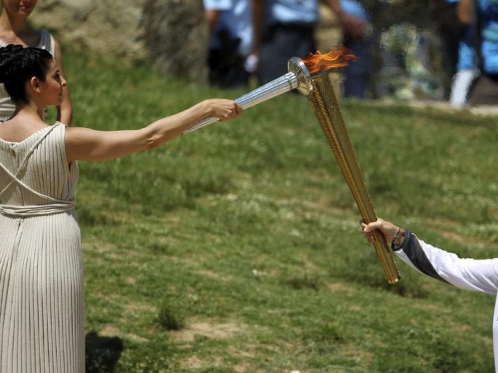 La llama olímpica recorrerá Grecia