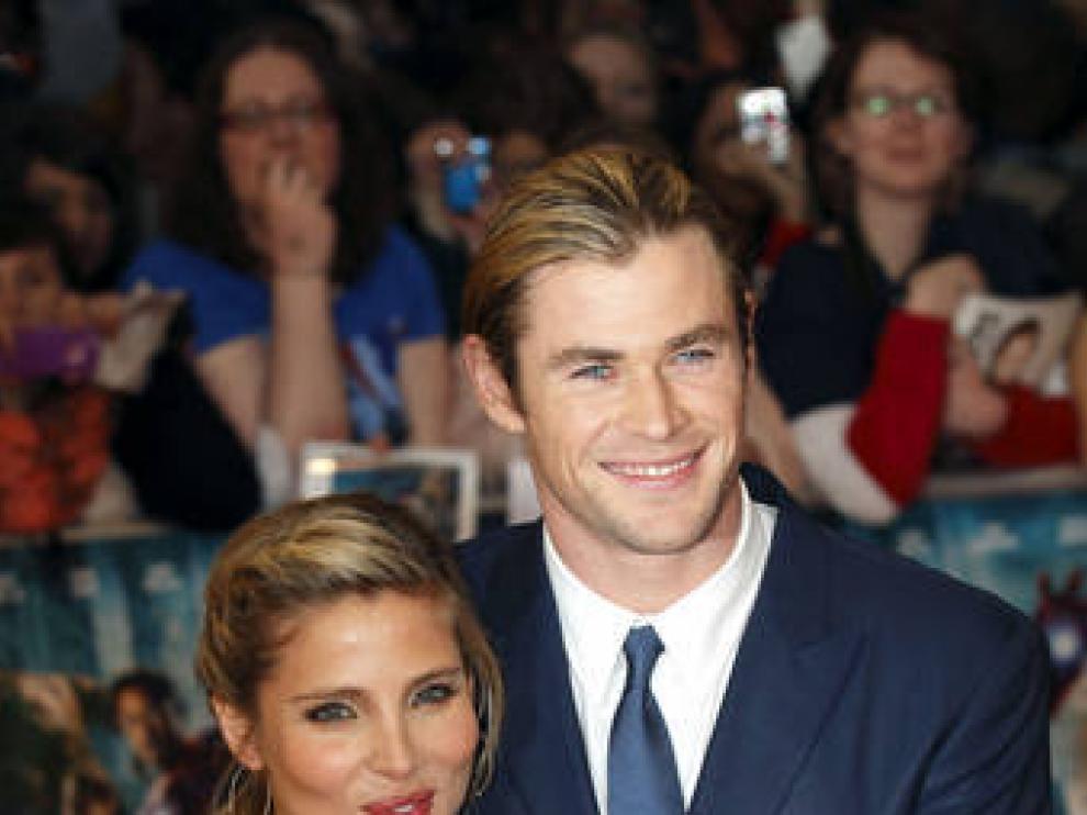 Elsa Pataky y Chris Hemsworth, en el preestreno europeo en Londres de Los Vengadores.