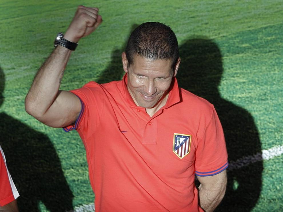 El entrenador Diego Pablo Simeone