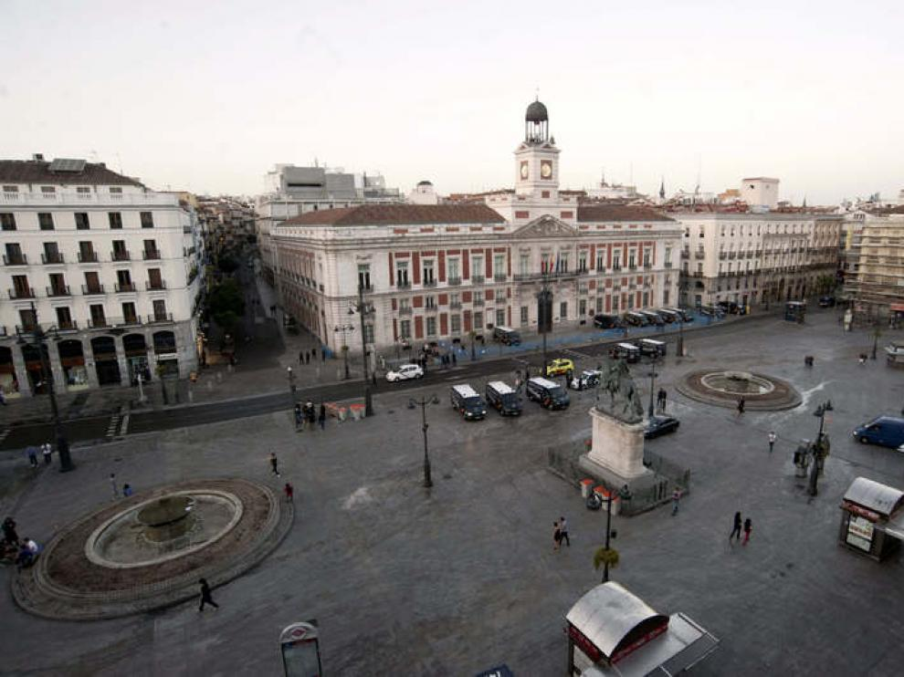 La Puerta del Sol, tras el desalojo