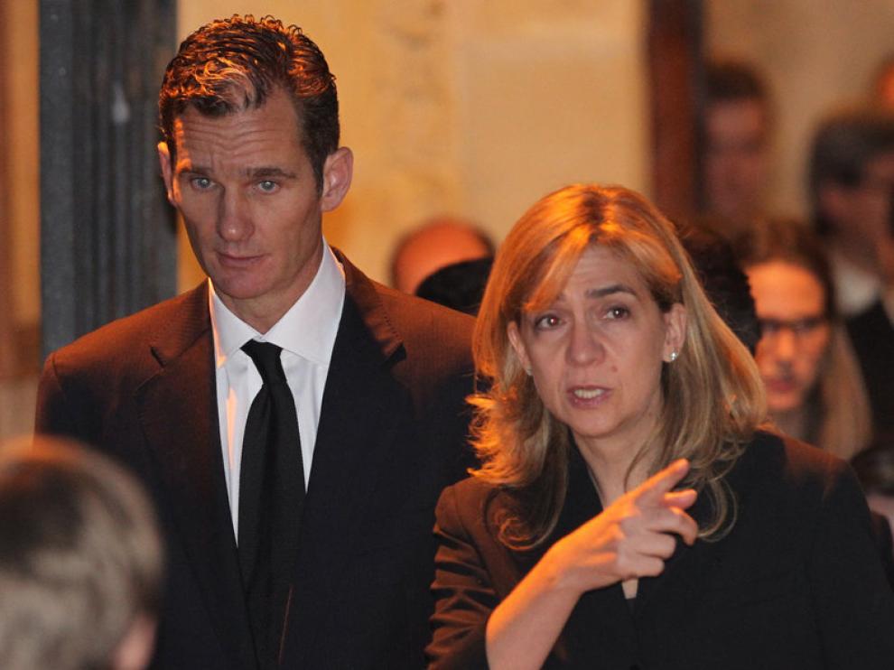 La infanta Cristina y su marido,