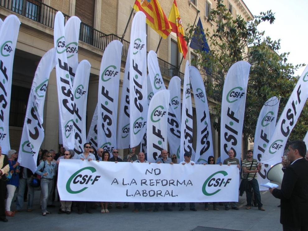 Manifestación esta mañana del CSIF