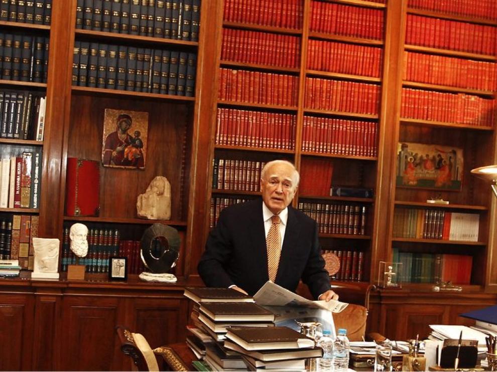 El presidente griego Karolos Papulias