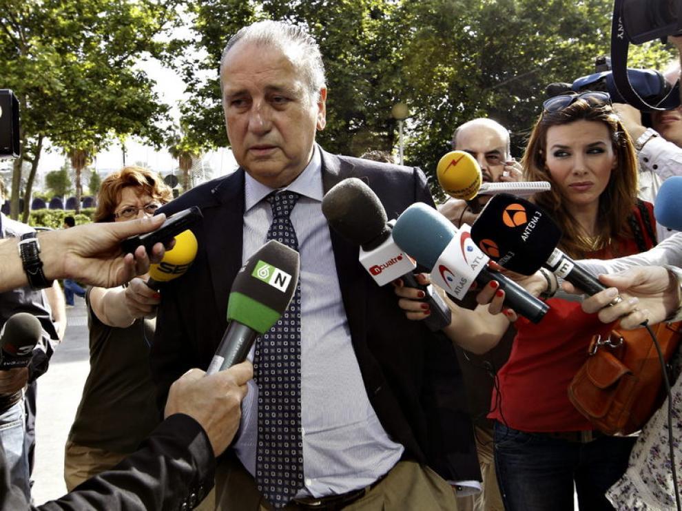 El presidente del Villarreal, Fernando Roig, a su llegada al juzgado