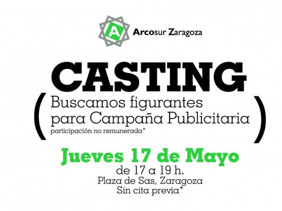 El cartel promocional de 'casting'
