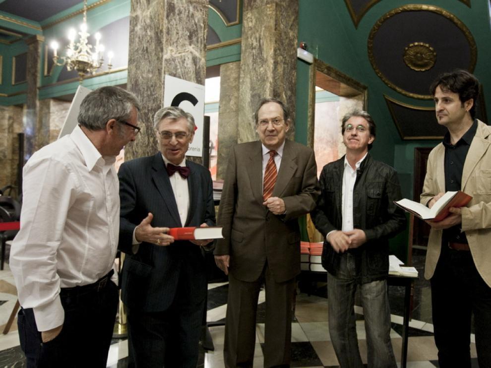 Paco Goyaes, Ángel Viñas, José Carlos Mainer, Julián Casanova y José Luis Ledesma