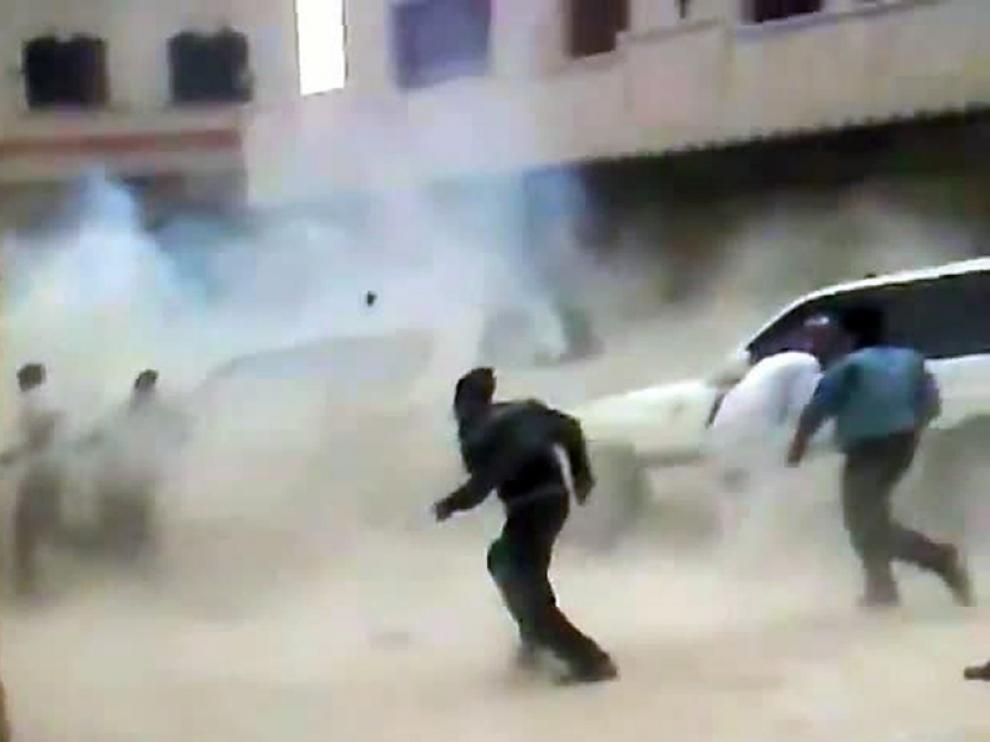 Fotograma del video de las consecuencias del atentado