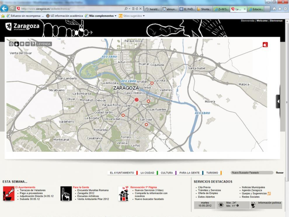 Web del Ayuntamiento de Zaragoza