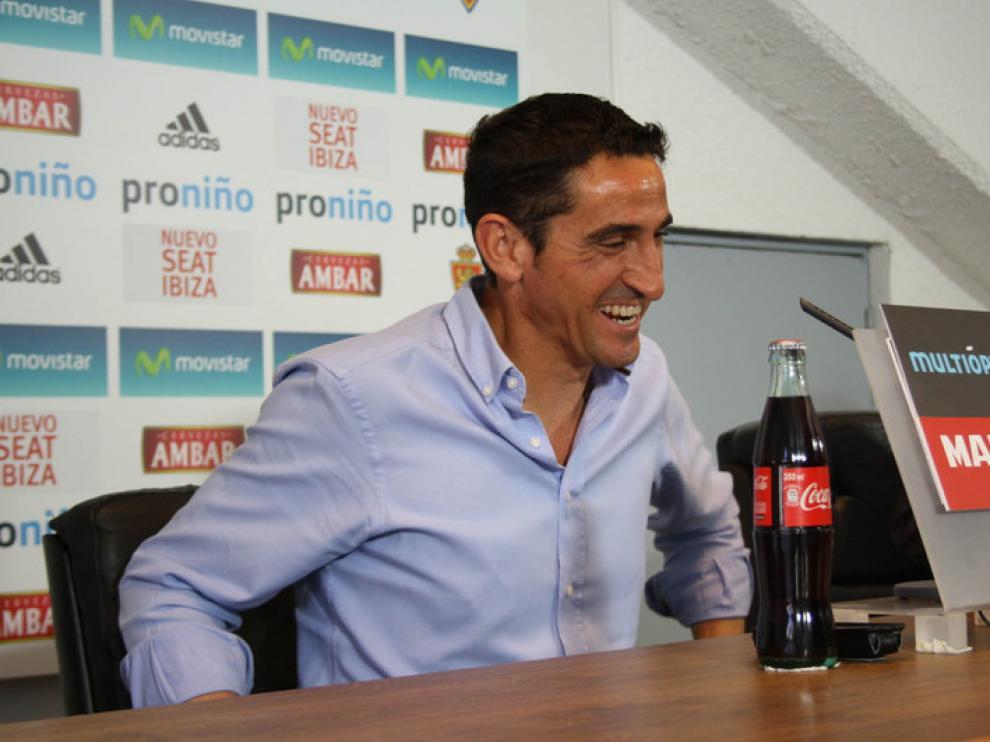 Manolo Jiménez en la última rueda de prensa de la temporada
