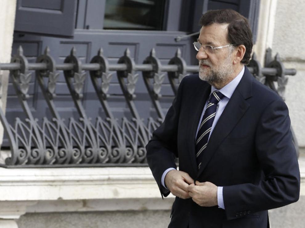 Mariano Rajoy llegando al Congreso de Ministros