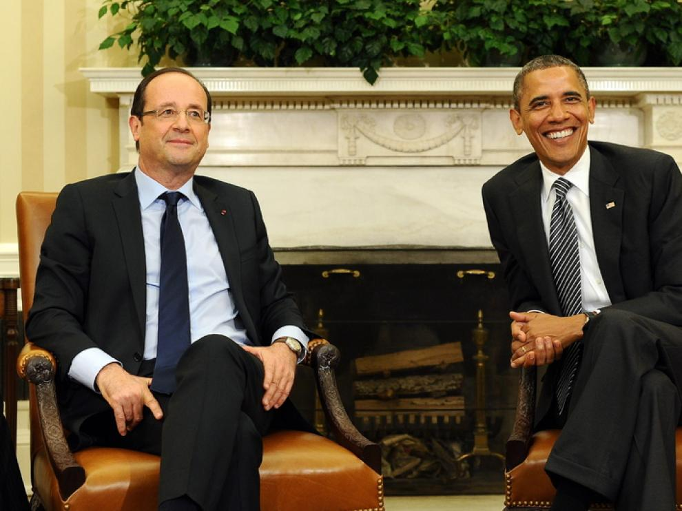 Barack Obama y Francois Hollande