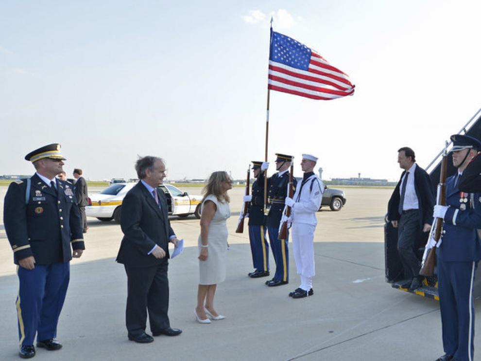 Mariano Rajoy, a su llegada a Chicago