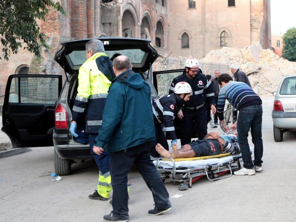 Imágenes de la localidad de Finale Emilia, afectada por el terremoto
