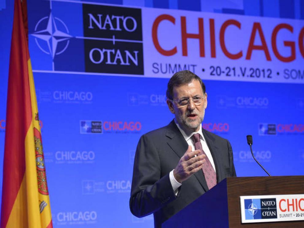 Rajoy responde desde Chicago a la petición formulada por Rubalcaba.
