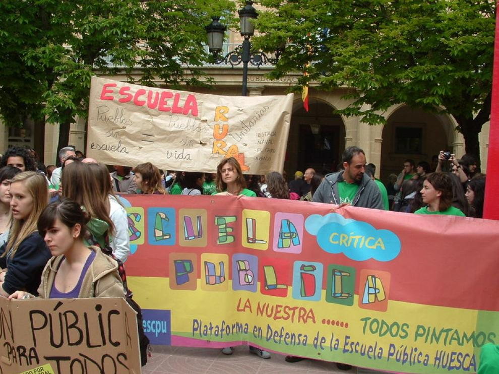 Imagen de la manifestación de Huesca
