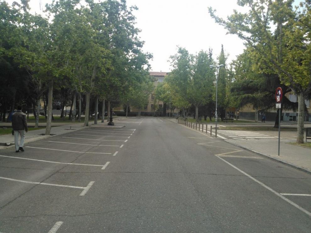 Campus de San Francisco casi vacío