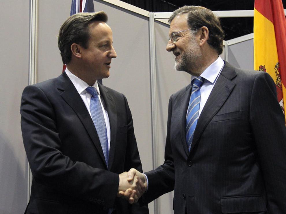 Encuentro de Rajoy con Cameron