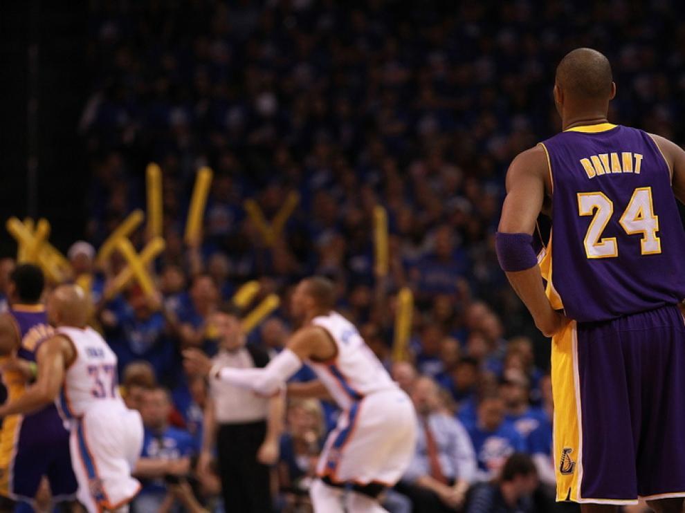 Kobe Bryant y sus 42 puntos no fueron suficiente ante los Thunder