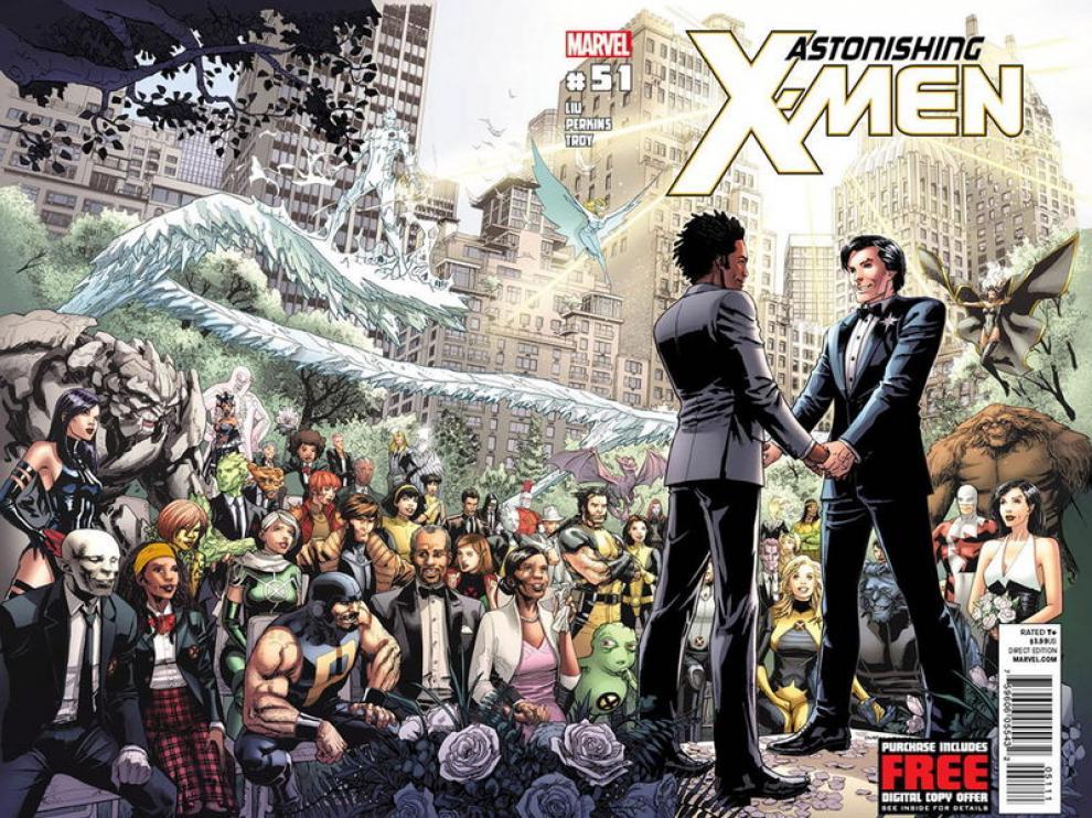 La portada del número de Marvel