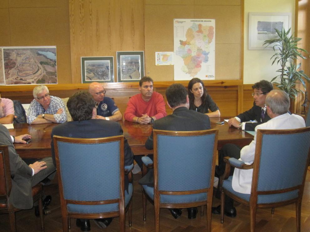 Reunión con empresas y sindicatos mineros