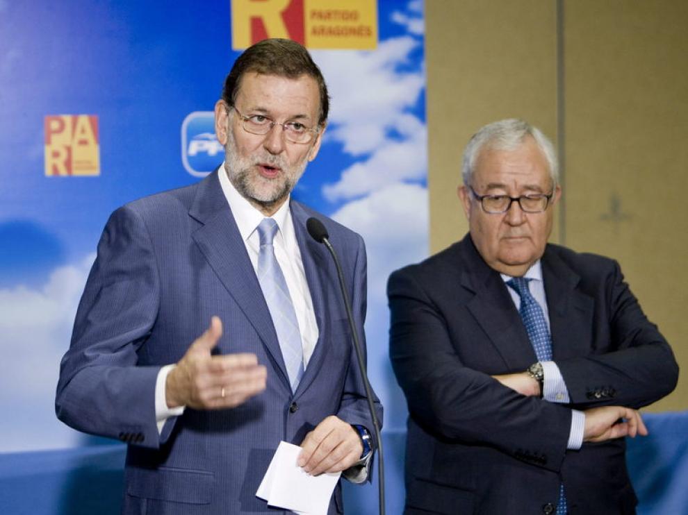 Biel y Rajoy en un encuentro anterior