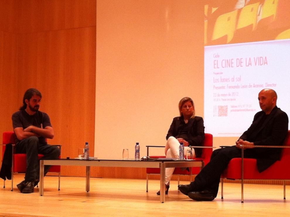 Fernando León de Aranoa, Begoña Lorente y Luis Alegre