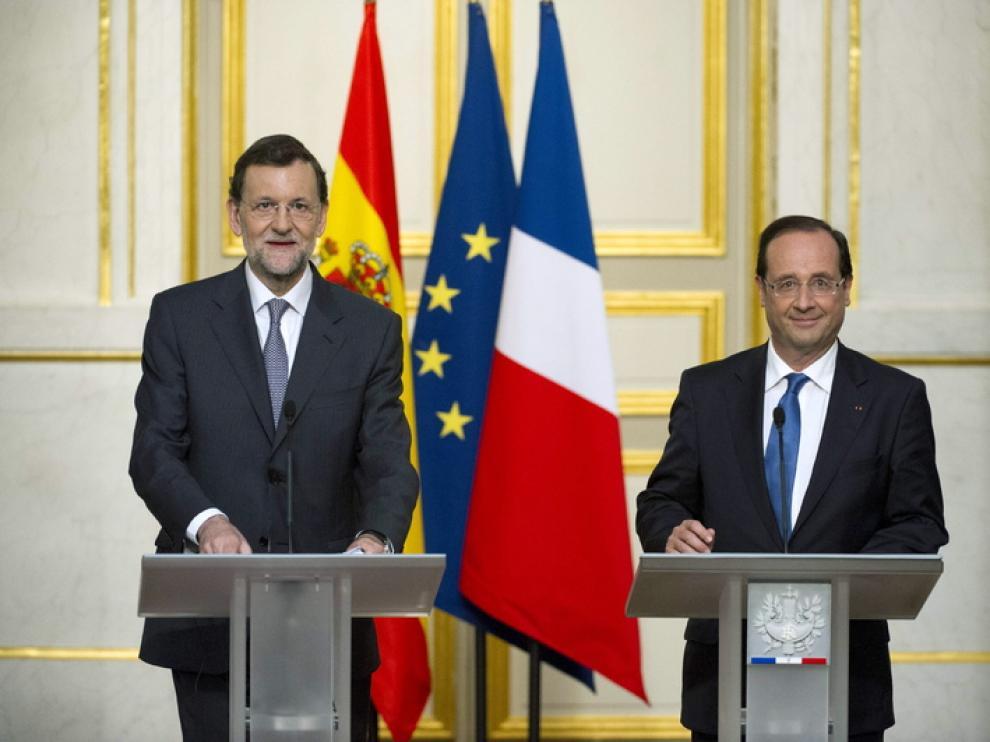 Rajoy y Hollande en rueda de prensa