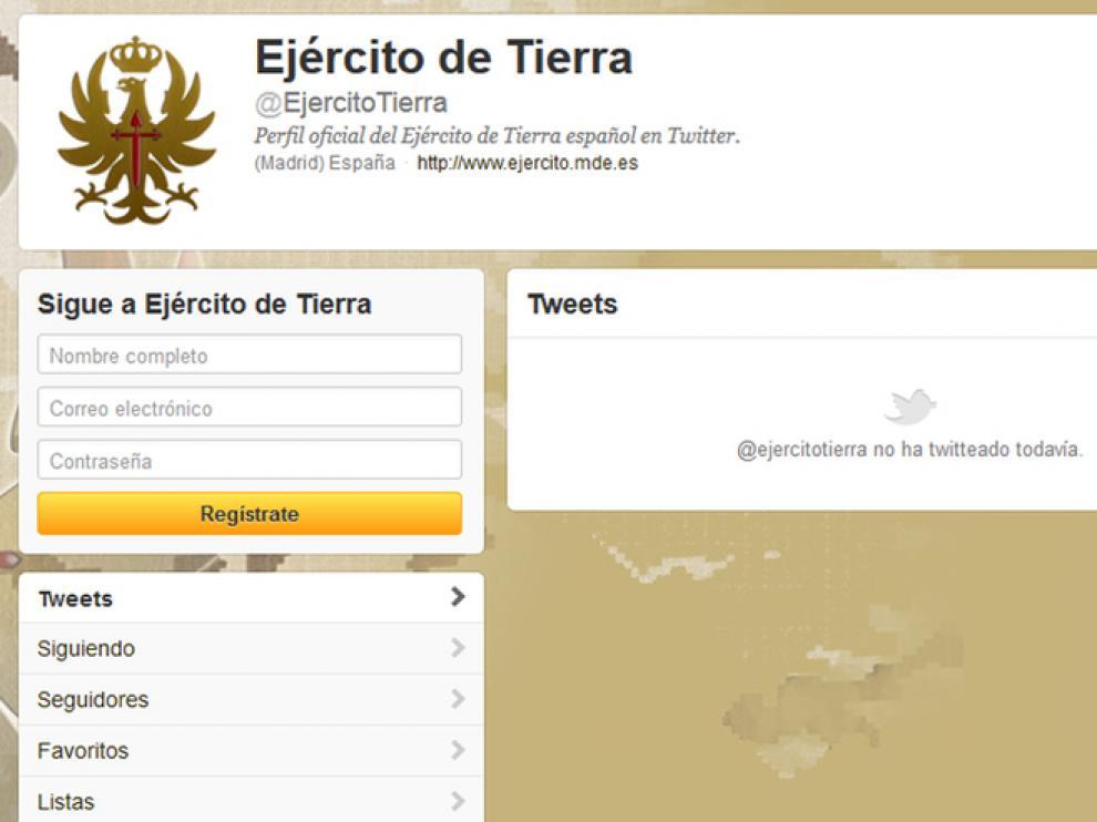 El nuevo perfil todavía no tiene 'tuits'