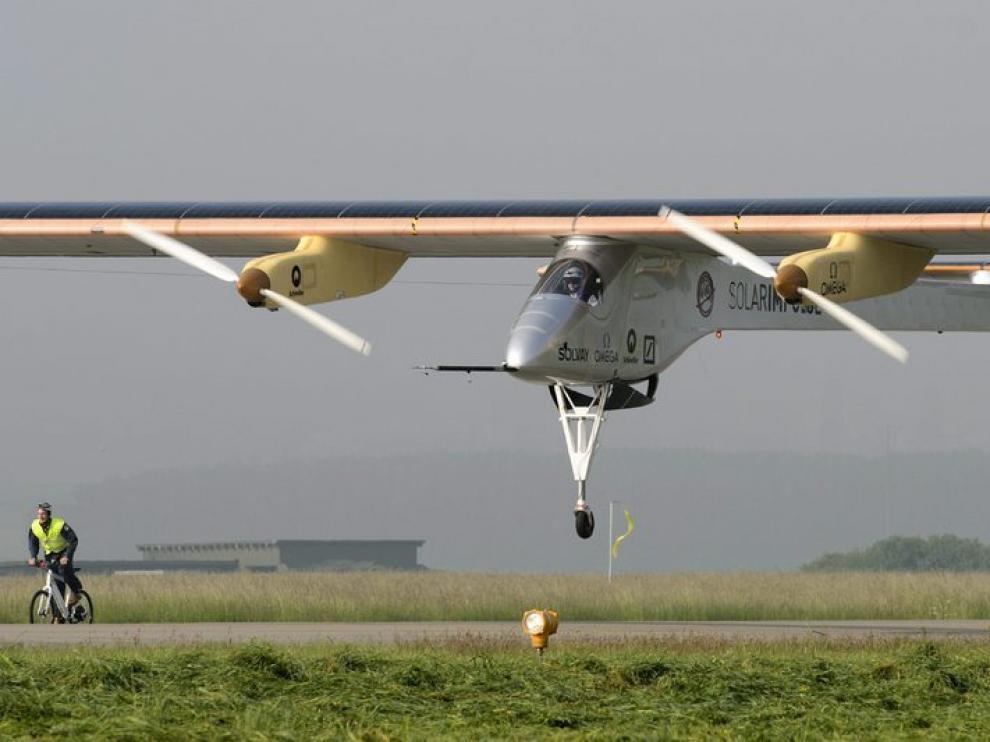 Avión solar que recorre Europa